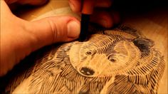 Graham Blair ~ The Woodcut Process ~ Each of my print editions begins as a sketch transferred onto a piece of hardwood which I then carve in relief using a combination of knives and gouges. Each impression is hand-printed by burnishing (or rubbing) the back of the paper with a bamboo spoon after the block has been inked.