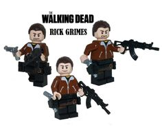 The Walking Dead RICK GRIMES v2 minifigure action figure zombie made with lego