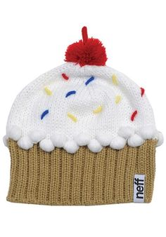 Fresh out of the oven is the Cupcake Beanie! With eight flavors to choose from, there is a Cupcake Beanie to satisfy everyone. Funky Hats, Cute Hats, Snowboard Shop, Running Costumes, Red Velvet Cupcakes, Vanilla Cupcakes, Vanilla Cake, Fall Accessories, Beanie Hats