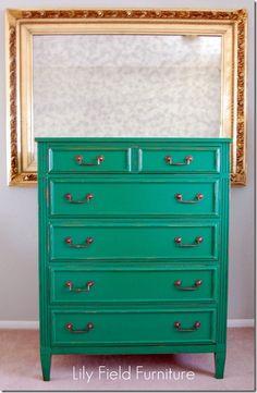 lovely green dresser