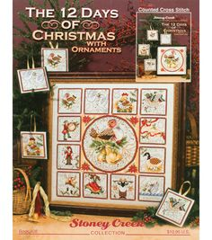 The 12 Days Of Christmas With Ornaments Counted X-Stitch Kit at Joann.com