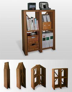 家居 手工 设计 瓦楞紙 9折叠书柜
