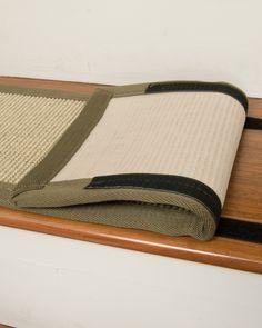 meadow sisal carpet stair treads w hook u0026 loop velcro set of
