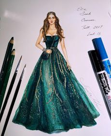 42 Ideas for fashion sketches dresses pencil haute couture elie saab Gown Drawing, Dress Design Drawing, Dress Design Sketches, Fashion Design Drawings, Fashion Sketches, Drawing Sketches, Clothing Sketches, Dress Designs, Drawing Faces