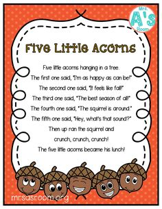 Fall Poems for Preschool | Mrs. A's Room