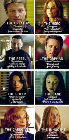 A perfect way to describe our favorite Castle Characters based on personality.