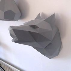 Paper Wolf Head - Store Without a Home