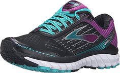 Brooks Women's Ghost 9 Running Shoes - Azalea/Black/CyberYellow * Trust me, this is great! Click the image. : Style and Fashion Shoes