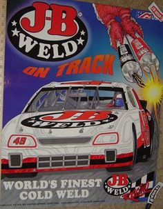 J-B Weld Race Car in 1997/98. World's Finest Cold Weld is now #WorldsStrongestBond. #ThrowbackThursday www.jbweld.com