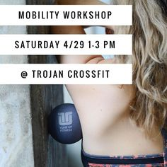 Join me and @jessshedlock next Saturday @trojancrossfit!! We're presenting Mobility for Performance: Total Body Treatment. It's a simple yet profound regimen that puts the power of self-care into your own hands. . Learn how to soothe areas of overuse underuse misuse and abuse with grippy pliable Roll Model Therapy Balls. You will learn sequences that address tension and pain in the core lower back upper back hips and shoulders that can be used as part of your pre-workout routine or your…