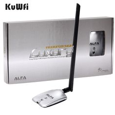 Cheap alfa adapter, Buy Quality usb wifi adapter directly from China wireless usb wifi adapter Suppliers: LUXURY ALFA Adapter Network High Power Wireless USB Wifi Adapter Antenna With Long Range Usb, Kali Linux, Wifi, Mac Os 10, Retail Box, User Guide, Cool Things To Buy, Stuff To Buy, Arduino
