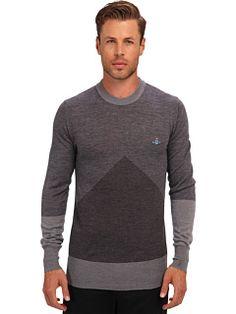 Vivienne Westwood MAN RUNWAY Intarsia Crewneck Sweater