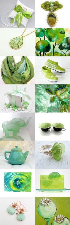 Green with Envy!   by Diane on Etsy--Pinned with TreasuryPin.com