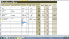 Kitchen Remodel Costs Calculator Excel Template Renovation Cost