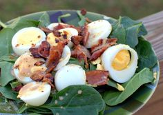Warm Spinach, Bacon & Egg Salad