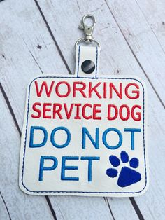 New to babymoon on Etsy: Custom listing for turnermacie1- Service Dog Alert Tag - DO NOT PET tag for service dogs - working dog alert - no touching dog warning tag (19.99 USD)