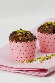 Veganpassion: Erdbeer-Schoko-Muffins mit karamellisierten Pistazien