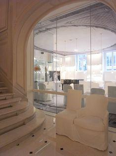 the renovation of parisian hotel 'la maison champs-elysées', was a collaboration between  french fashion house maison martin margiela and toulouse-based architect danièle darmon.