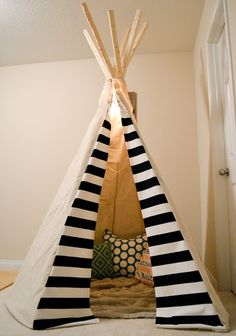 DIY Tee Pee. Nice material ideas and details.... However the construction…