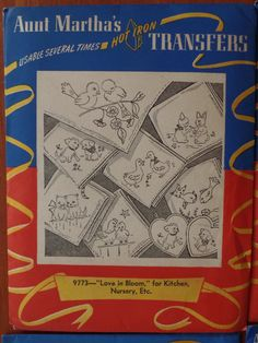 Vintage Aunt Martha's Transfer Pattern 9171 9504 9773 9774 Lot Embroidery Uncut | eBay