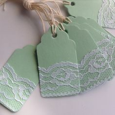 Items similar to Lace Gift Tags on Etsy Christmas Gift Tags, Christmas Crafts, Diy Name Tags, Decorated Gift Bags, Wedding Tags, Lace Wedding, Handmade Gift Tags, Paper Tags, Vintage Tags