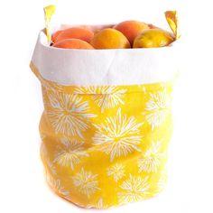Yellow Starbursts Storage Bucket