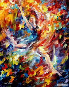 BURNING FLIGHT  — PALETTE KNIFE Oil Painting On Canvas By Leonid Afremov studio