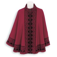 Boiled Wool Cape - Women's Clothing – Casual, Comfortable & Colorful Styles – Plus Sizes
