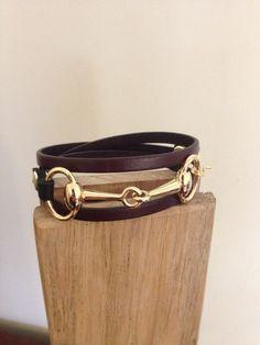 Snaffle Bit Triple Wrap Bracelet by FreeReinDesigns on Etsy https://www.etsy.com/listing/211236230/snaffle-bit-triple-wrap-bracelet