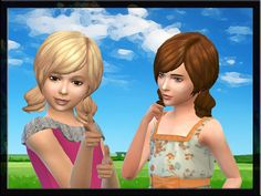 New hair for girls. I hope you enjoy!  Found in TSR Category 'Sims 4 Female Hairstyles'