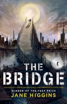 The Bridge by Jane Higgins. Found in face out under H and as an e-book. The City is divided. The bridges gated. In Southside, the hostiles live in squalor and desperation, waiting for a chance to overrun the residents of Cityside. Great Books, New Books, Books To Read, Across The Bridge, World View, Books For Teens, Hunger Games, Discovery, Novels