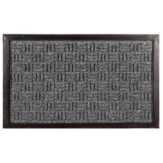 """Doormat Size: 24"""" x 36"""" by Imports. $36.01. 862 SMT Size: 24"""" x 36"""" Features: -Technique: Woven / Crafted.-Material: Polypropylene fibers and rubber.-Origin: India.-Rubber non slip backing. Construction: -Construction: Machine made. Color/Finish: -Color: Grey. Dimensions: -Pile height: 0.13''. Collection: -Collection: Imports D cor."""