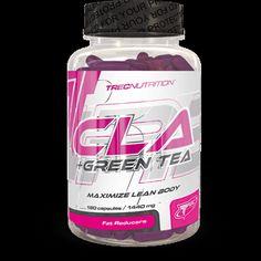 CLA + GREEN TEA: Ułatwia utrzymanie szczupłej sylwetki!   Kompleks CLA i ektraktu zielonej herbaty Łagodna i trwała redukcja wagi Doskonale wchłanialne żelowe kapsułki