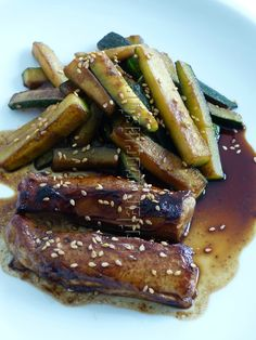 Filets de lapin et courgette à l'asiatique