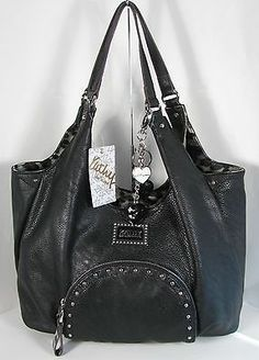 NWT Kathy Van Zeeland Handbag Purse Bag Peek A Boo Black A-Line Shopper