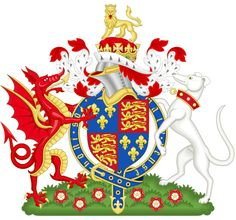 Coat of Arms of King Henry VII of England, the founder of the Royal House of Tudor. Margaret Tudor, Tudor Dynasty, Welsh Dragon, King Henry Viii, Tudor Rose, Legends And Myths, Plantagenet, Wars Of The Roses, England