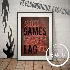 Love quote always kiss me goodnight rustic decor industrial video game poster video games dont make me violent lag does video game decor gaming print teen art game room decor video game art junglespirit Choice Image