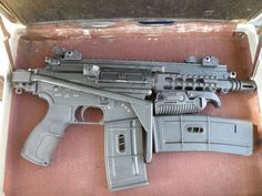 PTR91 PDW with a Folding stock to make a .308 SBR.  Nice try dipshit. This is quite obviously a piston driven ar15 pistol.      Dumbass