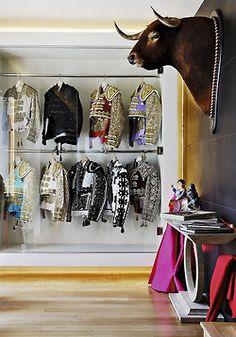 Dressing room of  a Spanish matador
