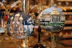 The Wiesbaden Christmas Market ornaments are one of many charming delights available during the holidays.