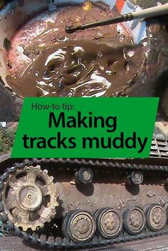 5 simple steps to dirty, well-used armor tracks for your next scale model.You can find Scale models and more on our Modeling Techniques, Modeling Tips, Military Figures, Military Diorama, Diorama Militar, Dragon Wagon, Plastic Model Cars, Model Hobbies, Model Tanks