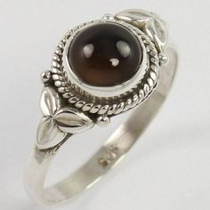 Beautiful 925 Solid Sterling Silver Ring Size US 8 Natural SMOKY QUARTZ Gemstone #Unbranded Smoky Quartz Ring, Silver Jewellery Indian, Handcrafted Jewelry, Sterling Silver Jewelry, Fine Jewelry, Gemstone Rings, Jewels, Gemstones, Natural