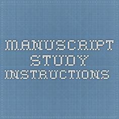 manuscript study instructions