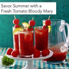 The perfect fix for almost-too-ripe tomatoes: Drink them! This is the ultimate Bloody Mary recipe.
