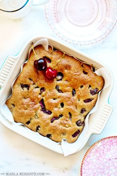 Cherry Blondies | Paleo, Gluten Free, Grain Free | FamilyFreshCooking.com