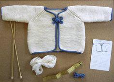 Garter Stitch jacket for infant ages 3-6 months.
