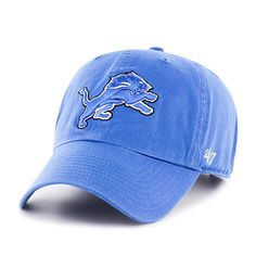the best attitude 4062b b49f7 Detroit Lions Clean Up Blue Raz 47 Brand Adjustable Hat