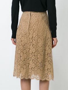 Dolce & Gabbana кружевная юбка с вышивкой Flare Skirt, Midi Skirt, High Waisted Skirt, Elegant, My Style, Ladies Style, Womens Fashion, Shopping, Pencil