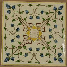 Online veilinghuis Catawiki: Large Art Nouveau tile