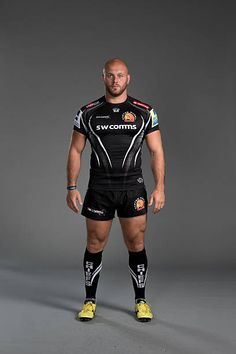 Jack Yeandle of Exeter Chiefs poses for a picture during the Exeter Chiefs photocall for BT at Sandy Park Stadium on September 8 2015 in Exeter. Athletic Supporter, Athletic Men, Rugby Jersey Design, Exeter Chiefs, Bald Men With Beards, Hot Rugby Players, Scruffy Men, Rugby Men, Beefy Men